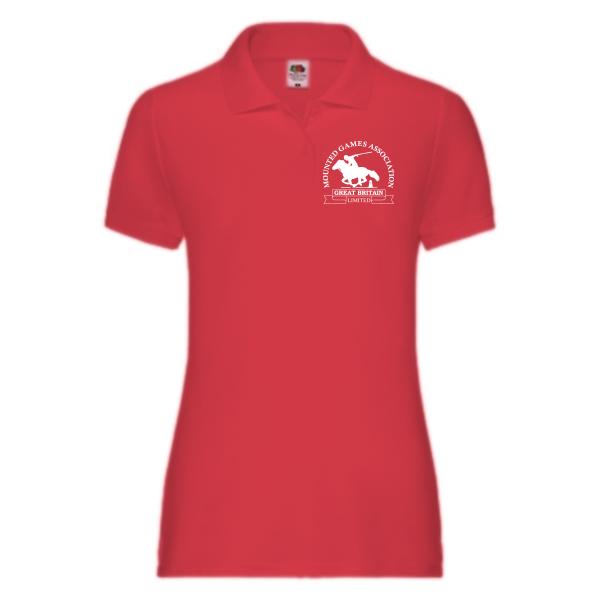 Ladies red polo shirt