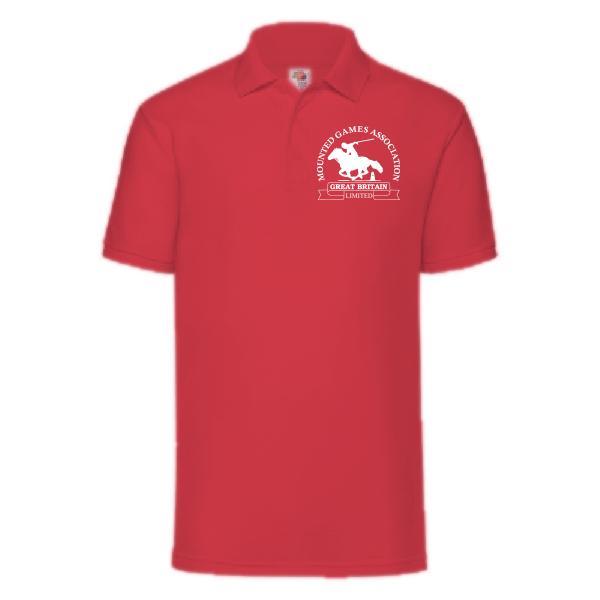 Mens red polo shirt